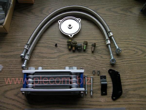 グラストラッカー ボルティー マローダー GN250 オイルクーラー キット 大容量65ml アルミ4段 社外 中国 (少しB級)
