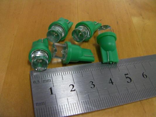 メーターランプ ライト ポジション ウェッジ球 メーター球 LED グリーン 緑色  5Wクラス  T10