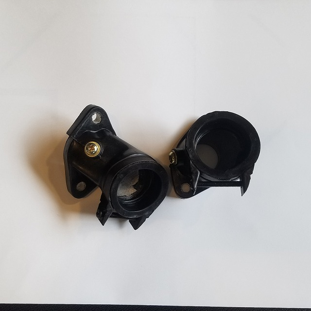 CD250U レブル250 MC13 インマニ インテークマニホールド 2個セット 穴つき ネジ・バンドつき 中国社外(CB125T)