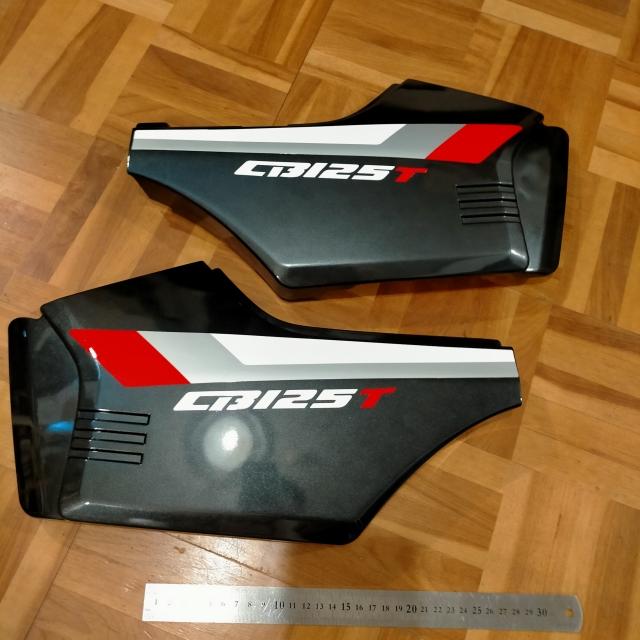 CB125T サイドカバー カウル バッテリー カバー ガンメタ 社外