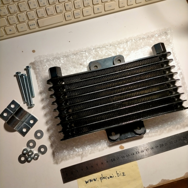 グラストラッカー ボルティー マローダー GN250 オイルクーラー ラジエーターのみ 超大容量125ml ステー付 ブラックアウト