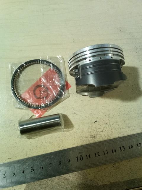 61.0mm 高潤滑 コートつき ピストン リングセット ピストンキット 15mmピストンピン  中国社外 ベクスター 150用 に