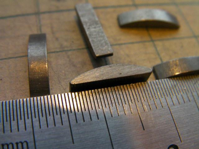 DIO AF27 lead ホンダ系 クランク 半月 キー ピン ウッドラフ キー 3mm