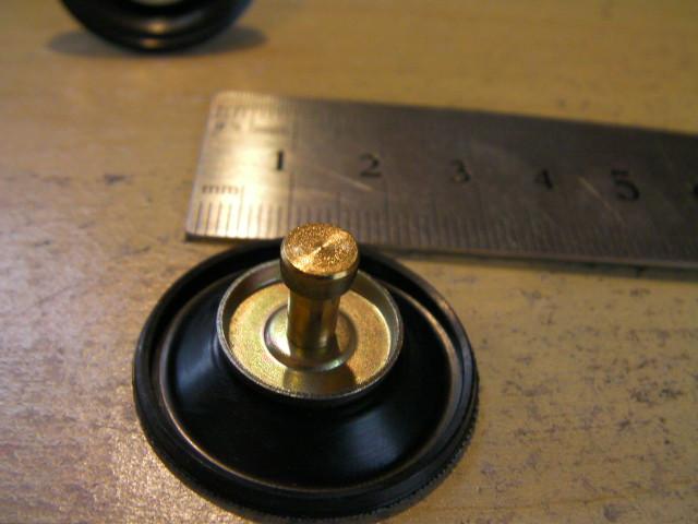 GY6 CVK ケイヒン キャブレター用 ダイヤフラム小 エアーカット バルブ 太軸