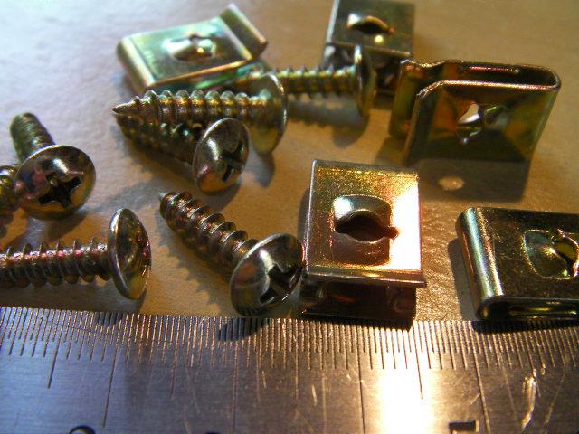 スクーター 外装 カウル 接続用 汎用 ネジ と ネジどめ セット M4 ゴールド