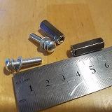 高ナット ネジ セット 六角 M5 20mm P0.8 イグニッションコイルかさ上げ用に xv250 gn250