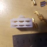 イグナイター メインハーネス 接続用 6ピン メス 6pカプラ セット スズキ・ヤマハ系 DIY レストア