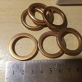 ベクスター ヴェクスター マフラー ガスケット 中国社外 銅カバー  外径:33mm内径:24mm厚さ:4.5mm
