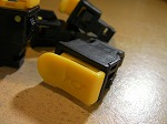 ホーンスイッチ クラクション スイッチ 小 小型タイプ 汎用 中国社外 黄色